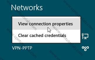 View VPN connection properties