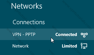 VPN PPTP Connected