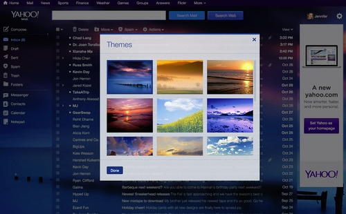 Yahoo mail new design